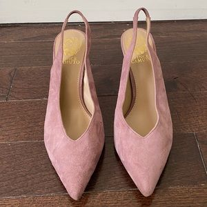 Vince Camuto Suede Slingback Pointy Heels Sz 8